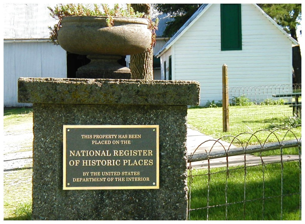 National Historic Place Plaq.